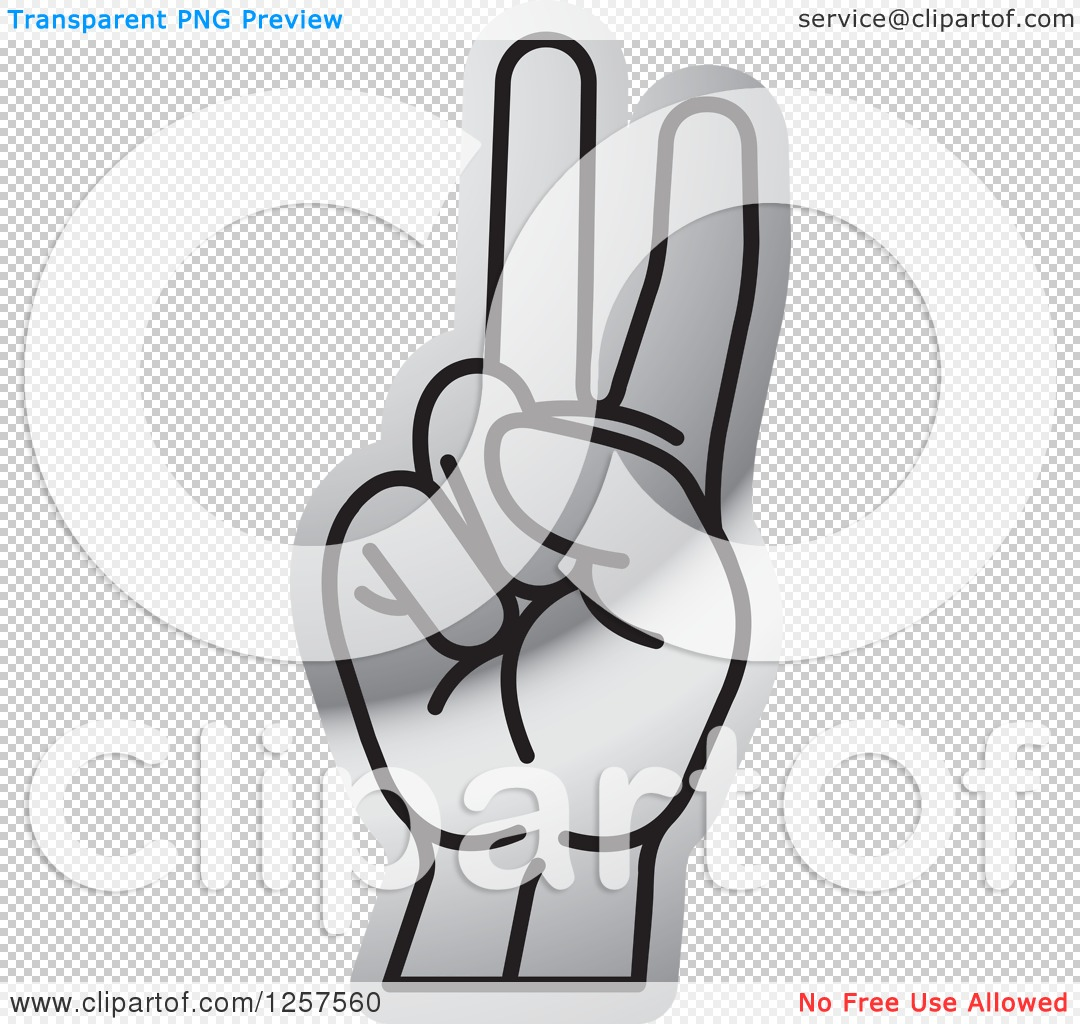 Sign language clipart letter v banner transparent stock Clipart of a Silver Sign Language Hand Gesturing Letter V ... banner transparent stock