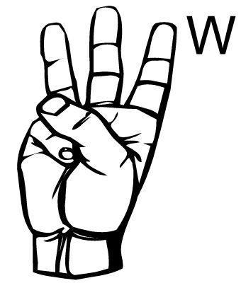 Sign language clipart letter v svg transparent stock 17 Best images about Sign Language on Pinterest | Language, Sign ... svg transparent stock