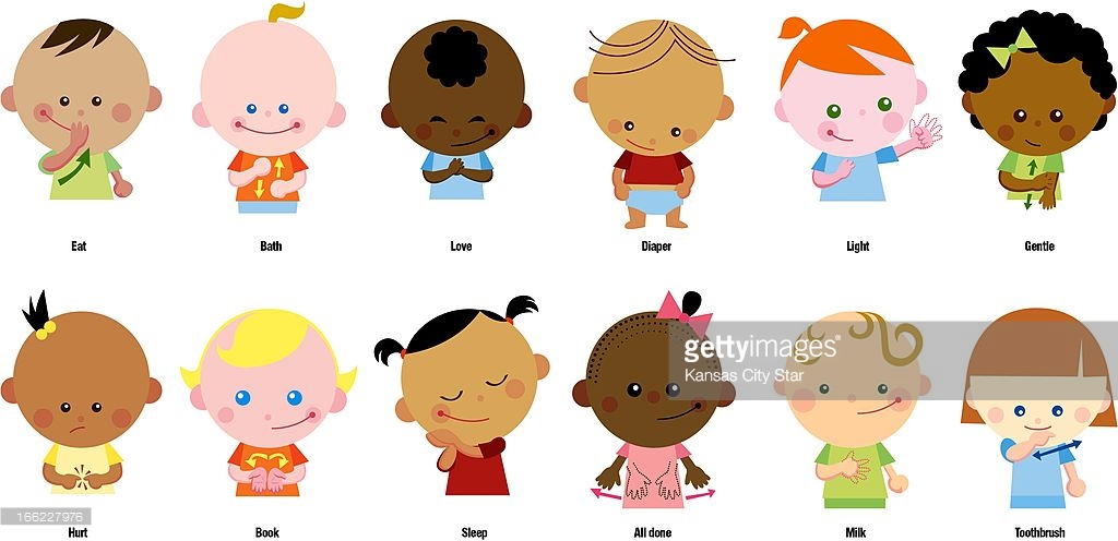 Sign language milk clipart png freeuse library Baby signing illustration Pictures | Getty Images png freeuse library