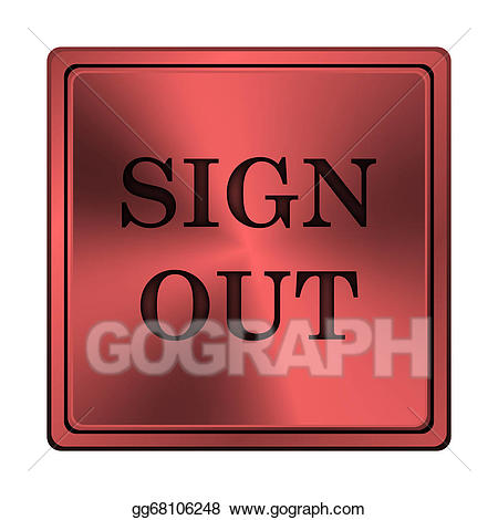 Signout clipart vector Stock Illustrations - Sign out icon. Stock Clipart ... vector