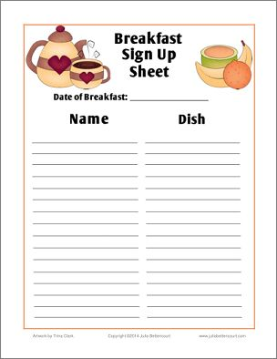 Sign up sheet clipart graphic library download Breakfast Sign Up Sheet Free Printable: (Made2BCreative Blog ... graphic library download
