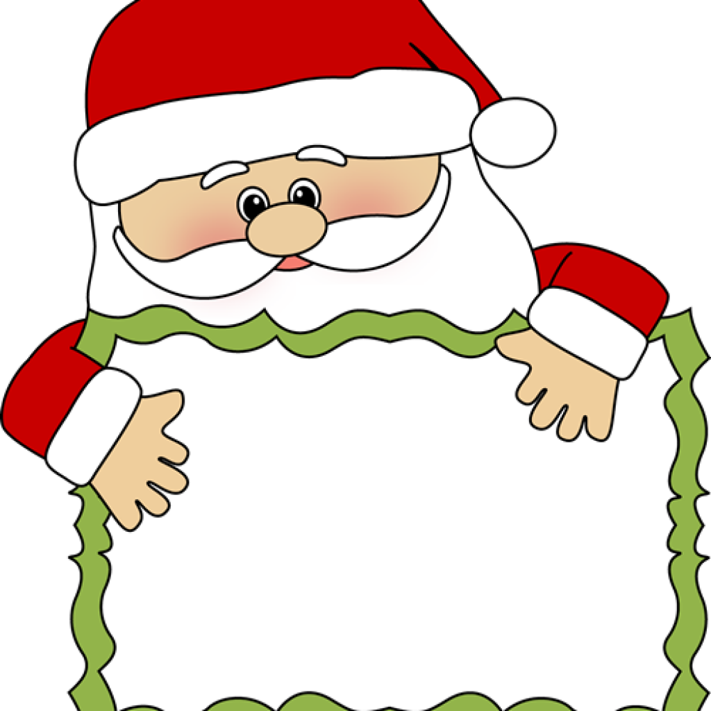 Sign with santa clipart
