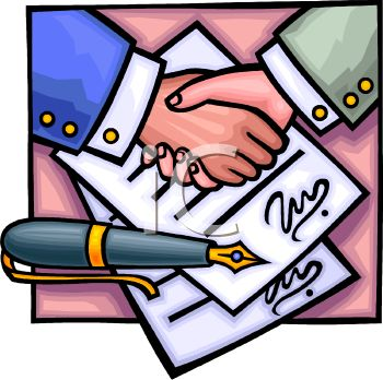 Signed contract clipart png royalty free library Signing Contract Clip Art | Clipart Panda - Free Clipart Images png royalty free library