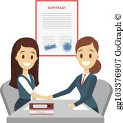 Signed contract clipart banner transparent library Contract Signing Clip Art - Royalty Free - GoGraph banner transparent library