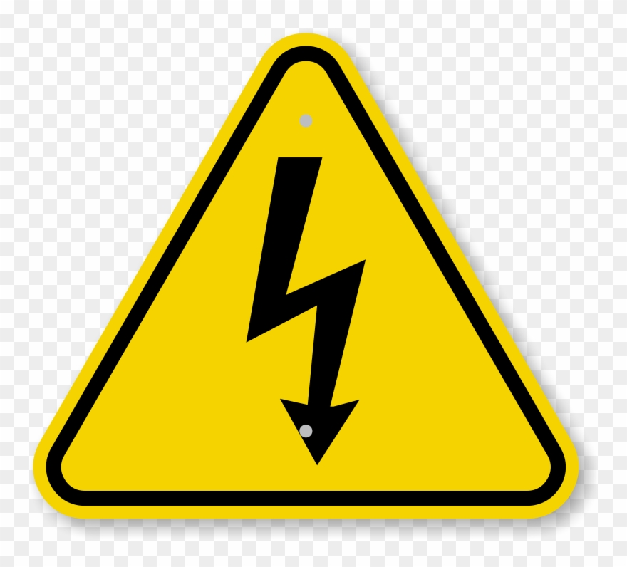 Signo de admiracion clipart graphic download Iso Electrical Shock Electrocution Warning Sign Symbol ... graphic download