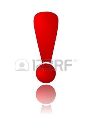 Signo de admiracion clipart freeuse stock Signo rojo de exclamación. Con reflejo. | Signos de ... freeuse stock