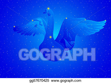 Signus clipart svg royalty free stock Stock Illustration - Constellation cygnus. Clipart ... svg royalty free stock