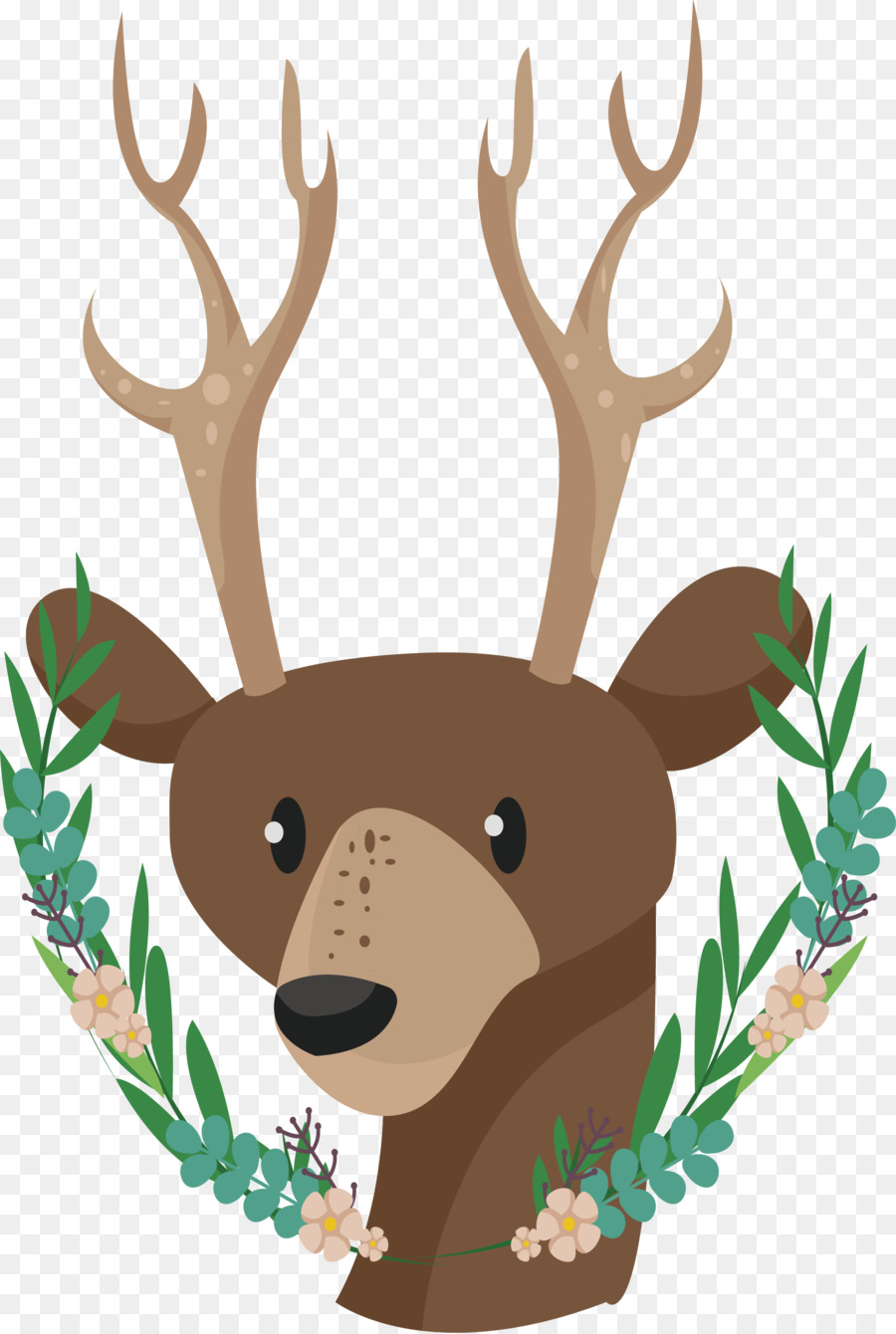 Sika deer clipart graphic Reindeer Cartoon png download - 2135*3176 - Free Transparent ... graphic