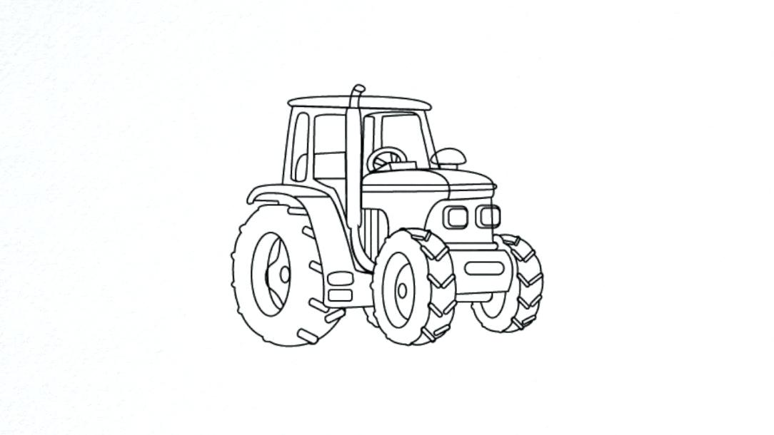 Silage tractor clipart clip art royalty free download tractor drawing – footballone.info clip art royalty free download