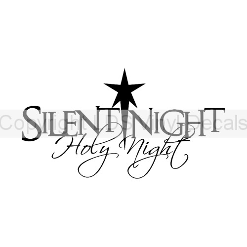 Silent night holy night clipart image freeuse download SILENT NIGHT Holy Night - Christmas Vinyl Wall Art - Holiday ... image freeuse download
