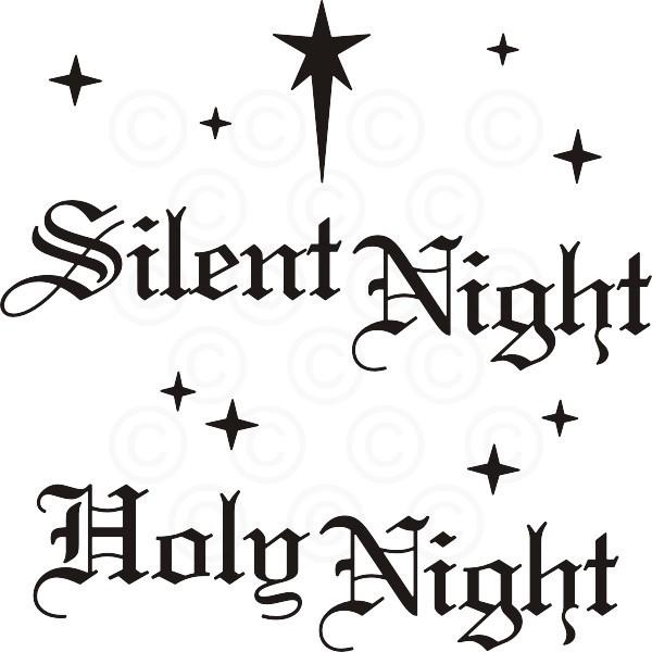 Silent night holy night clipart clip art black and white stock Silent Night Holy Night clip art black and white stock