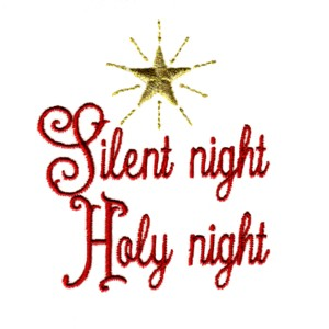 Silent night holy night clipart png free stock Silent Night Embroidery Design png free stock