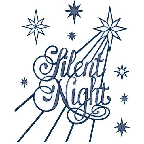 Silent night holy night clipart picture black and white library Sue Wilson Dies Festive Collection Silent Night CED3032 picture black and white library