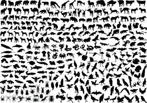 Silhouette animals clipart picture freeuse download Animal silhouette clip art free vector download (221,109 ... picture freeuse download