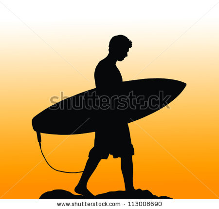 Silhouette boy surfboard clipart royalty free stock Surfer Silhouette Stock Images, Royalty-Free Images & Vectors ... royalty free stock
