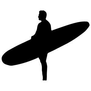 Silhouette boy surfboard clipart image transparent download Man Holding Surfboard Silhouette clipart, cliparts of Man Holding ... image transparent download
