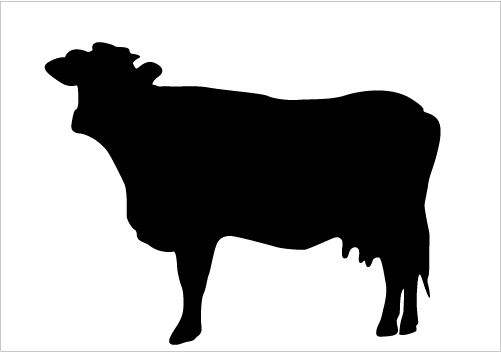 Silhouette clipart animals banner Best Cow Silhouettes for Farm Animal Design Silhouette ... banner