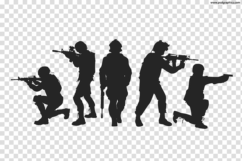 Silhouette clipart military jpg black and white download Battlegrounds silhouette poster, Silhouette Soldier Military ... jpg black and white download