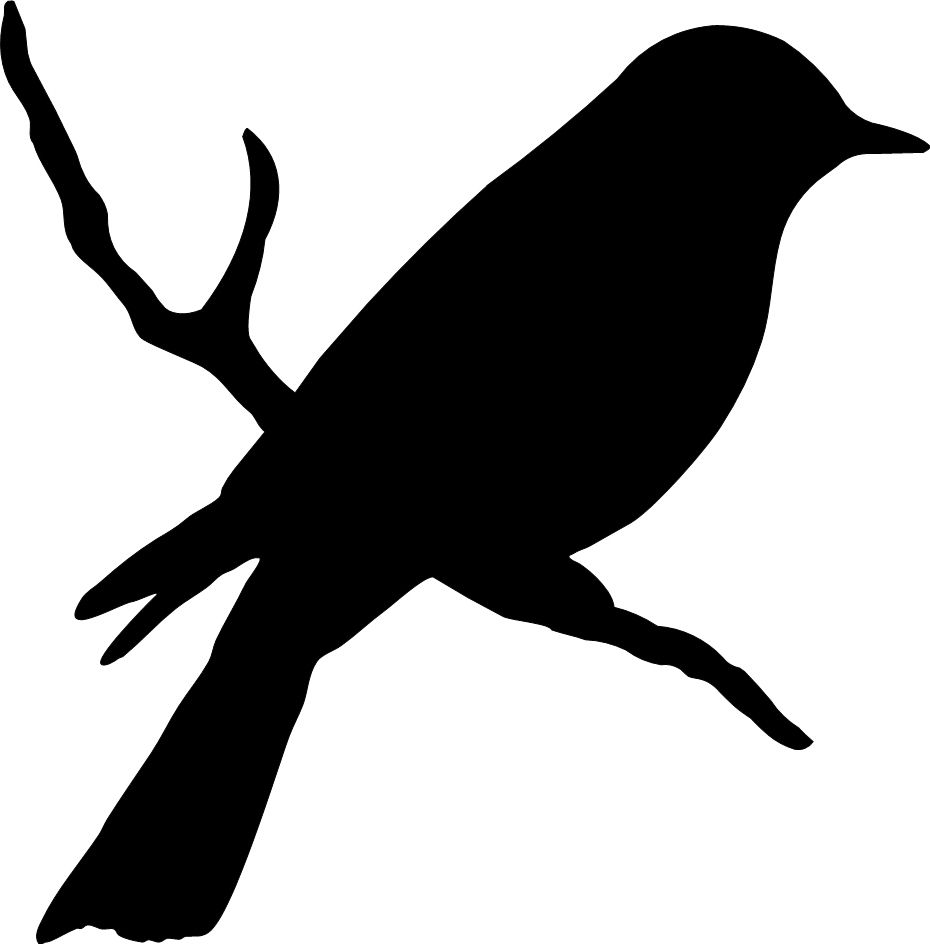 Silhouette clipart on newspaper image royalty free stock Bird on a branch #birds #silhouette | birds | Bird stencil ... image royalty free stock