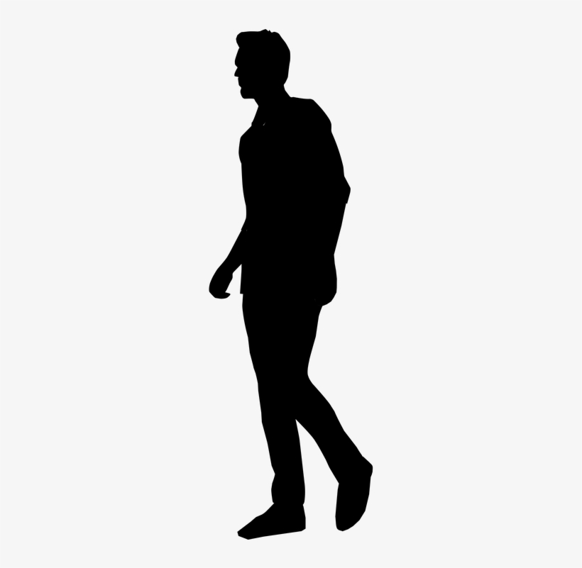 Silhouette clipart people picture library library Download Free png People Silhouette Clipart Tall Man ... picture library library