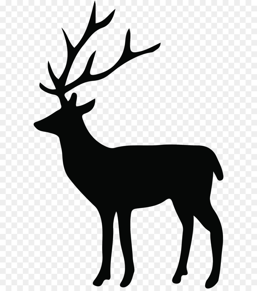 Silhouette clipart reindeer image transparent stock Book Silhouette image transparent stock