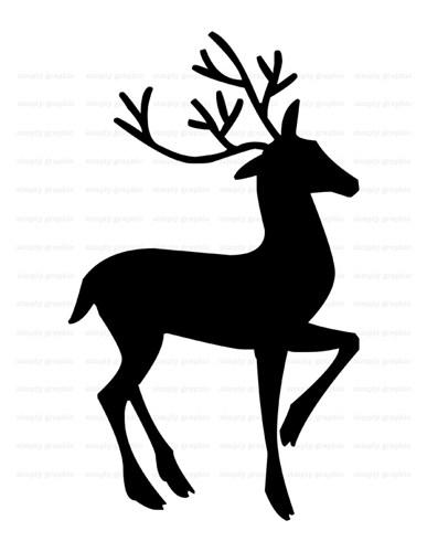 Silhouette clipart reindeer clip transparent Reindeer Silhouette Clipart - Clip Art Library clip transparent