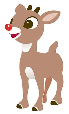 Silhouette clipart rudolph red nosed reindeer banner stock Pin by Diane Koch on Clip Art | Rudolph red nosed reindeer ... banner stock