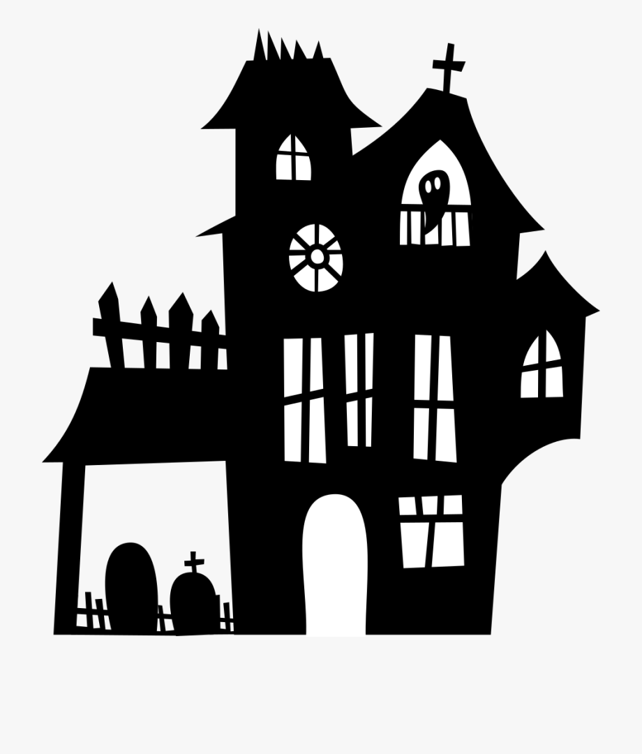 Silhouette clipart spooky clipart black and white library Haunted Clipart Spooky House - Halloween Haunted House ... clipart black and white library