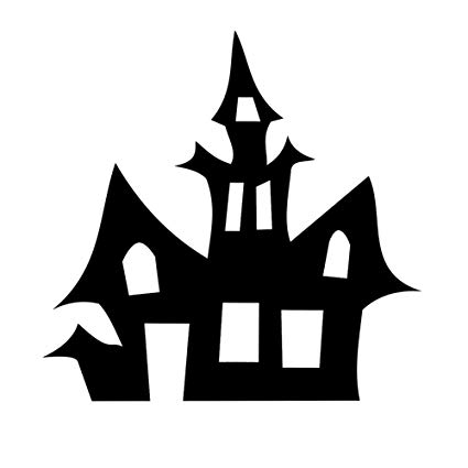 Silhouette clipart spooky clip black and white download Amazon.com: Haunted House Silhouette Spooky Halloween 6 ... clip black and white download