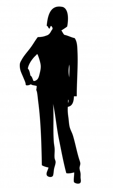 Silhouette clipart woman black and white stock Business Woman Silhouette Clipart Free Stock Photo - Public ... black and white stock