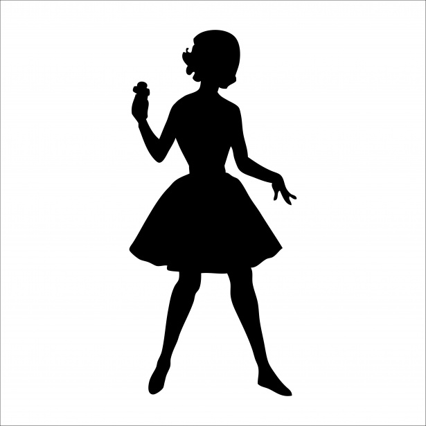 Silhouette clipart woman freeuse library Woman Silhouette 1950s Clipart Free Stock Photo - Public ... freeuse library
