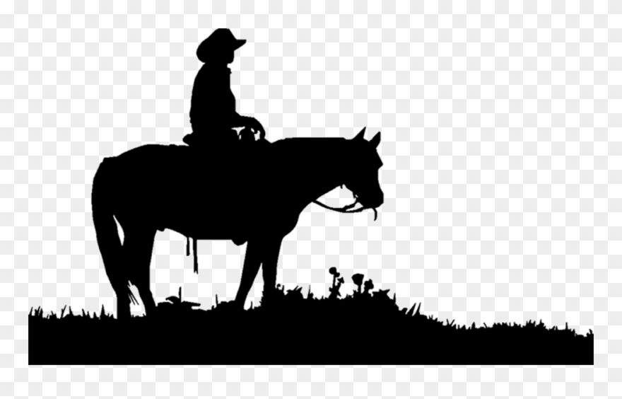Western silhouette clipart clip art black and white library Transparent Horses Cowboy Clipart Freeuse Download - Cowboy ... clip art black and white library
