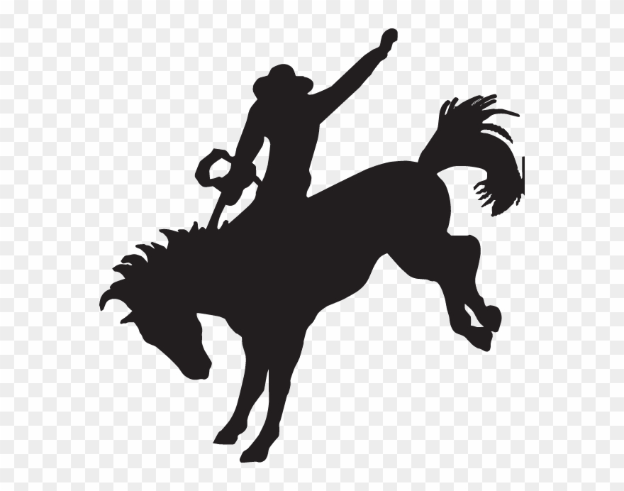 Western silhouette clipart free Decal - Cowboy Riding A Horse Silhouette Clipart (#922412 ... free