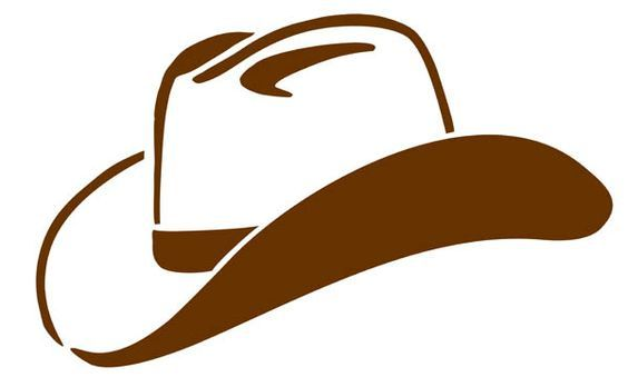 Silhouette cowboy hat clipart black and white picture freeuse download Cowboy Hat Clipart Black And White | Clipart Panda - Free ... picture freeuse download