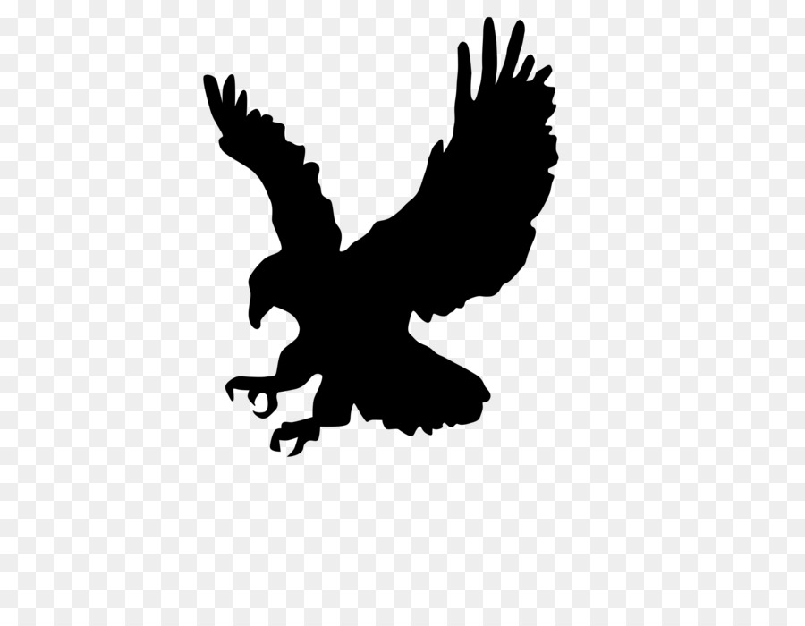 Silhouette eagle clipart picture black and white stock Eagle Cartoon clipart - Eagle, Silhouette, Bird, transparent ... picture black and white stock