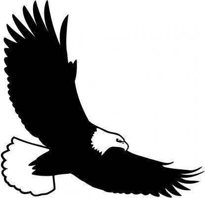 Silhouette eagle clipart clip download Bald Eagle Silhouette Clipart   Crafts   Eagle silhouette ... clip download