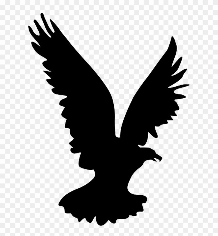 Silhouette eagle clipart image transparent library Flying Eagle Silhouette, Heron Silhouette - Flying Eagle ... image transparent library
