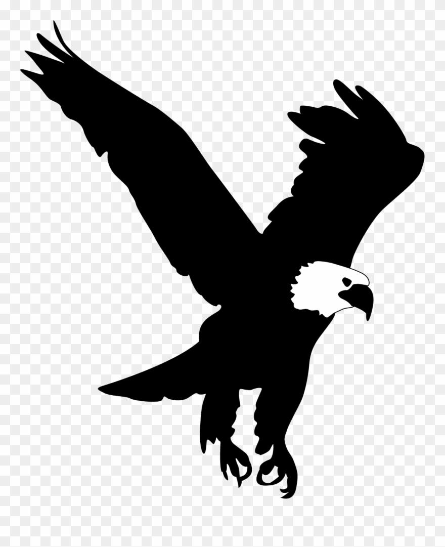 Silhouette eagle clipart clipart free Bald Eagle Clip Art - Eagle Silhouette - Png Download ... clipart free