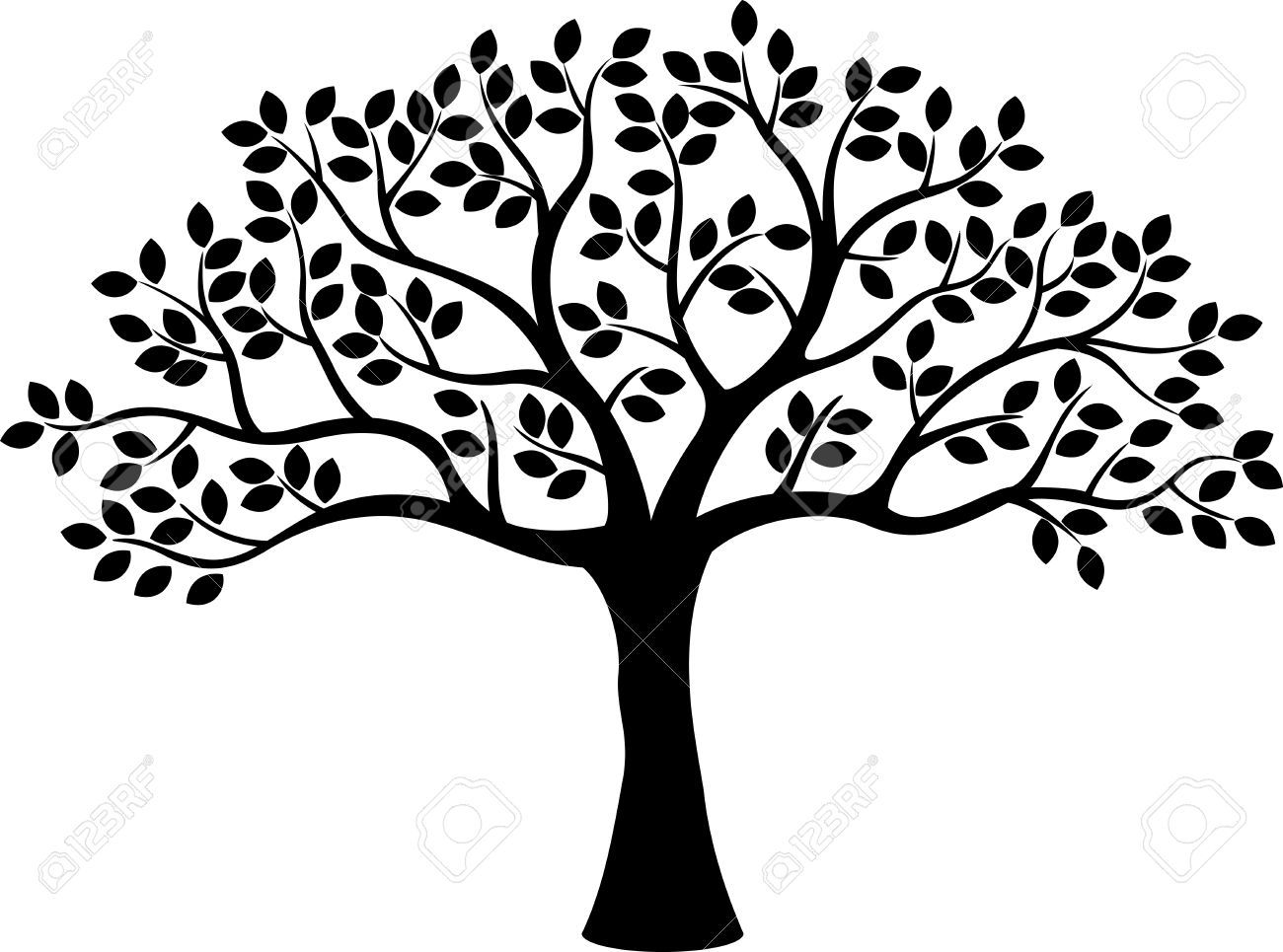 Silhouette family tree clipart black and white image royalty free Pin by Gretchen Ochs on DIY Ideas | Vector trees, Tree ... image royalty free