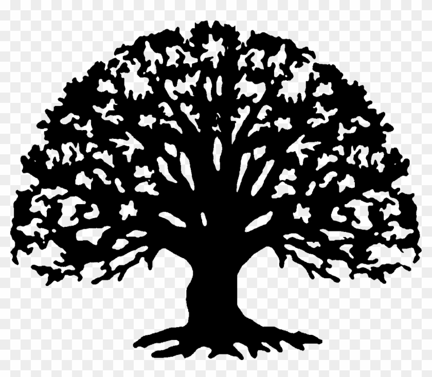 Silhouette family tree clipart black and white clip art library Tree Line Art Png - Family Reunion Tree Clipart, Transparent ... clip art library