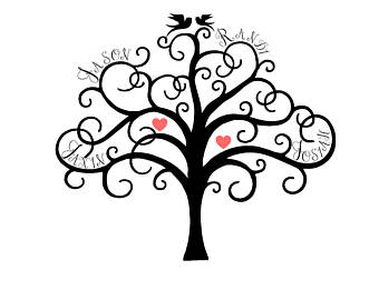 Silhouette family tree clipart black and white banner free stock Black And White Family Tree Clipart | Free download best ... banner free stock