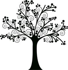 Silhouette family tree clipart black and white graphic library library Tree silhouettes clipart clip art family tree clipart clip ... graphic library library