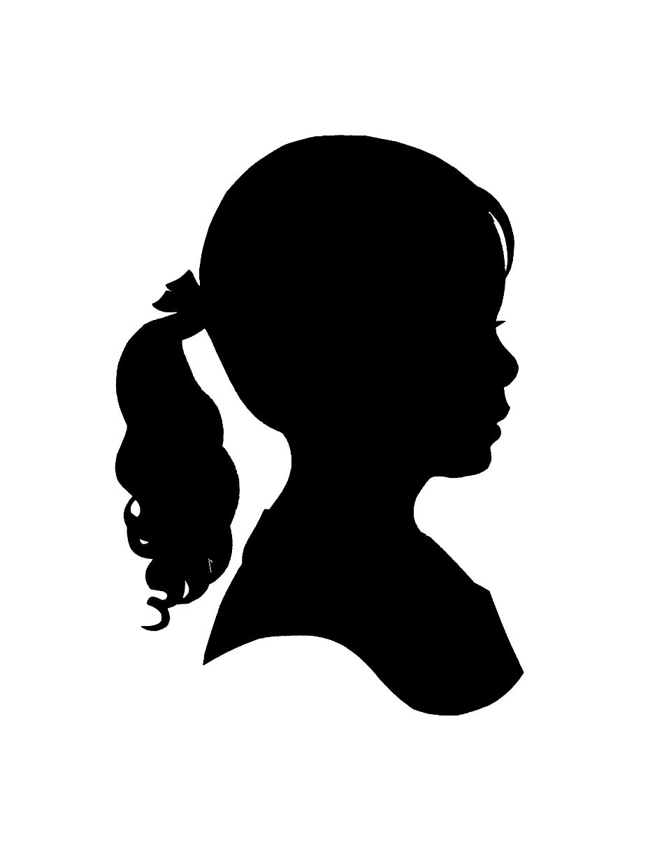 Silhouette girl clipart clipart transparent download girl silhouette - Google Search | Art lessons | Girl ... clipart transparent download