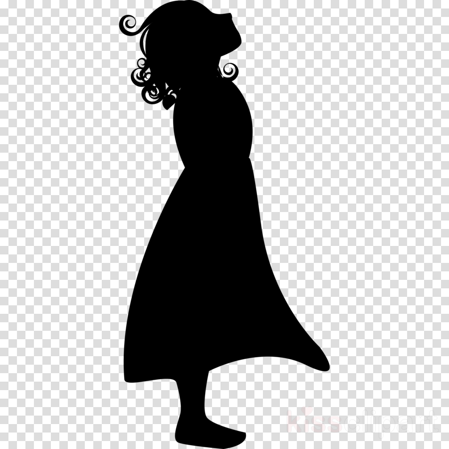 Silhouette girl clipart banner freeuse library Girl Cartoon clipart - Silhouette, Girl, Child, transparent ... banner freeuse library