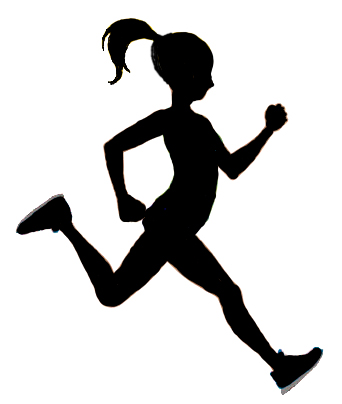 Silhouette girl running clipart graphic library stock Free Silhouette Of Girl, Download Free Clip Art, Free Clip ... graphic library stock