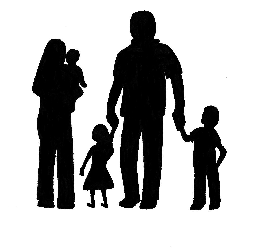 Silhouette of family clipart jpg free 50+ Family Silhouette Clip Art | ClipartLook jpg free