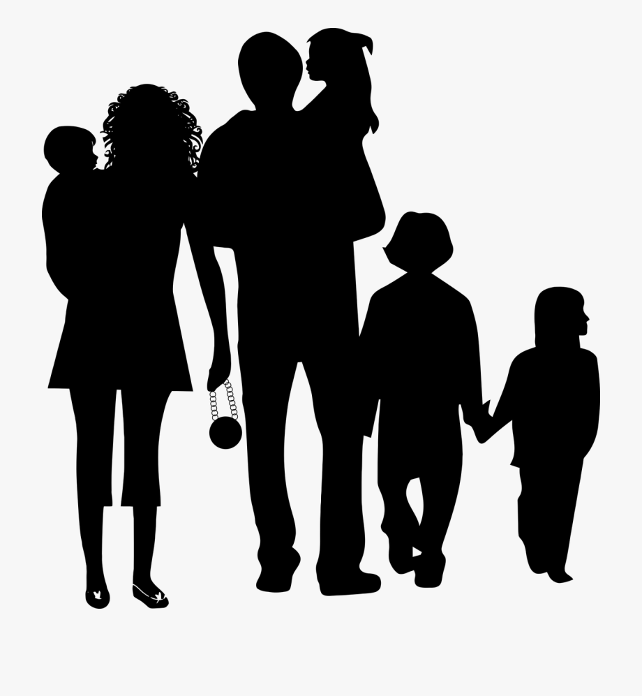 Silhouette of family clipart graphic Family Clipart Dad - Happy Family Silhouette Png #85236 ... graphic