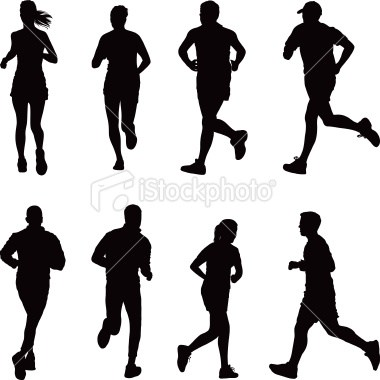 Silhouette of runner clipart clip free library Runner silhouette clipart 2 » Clipart Portal clip free library