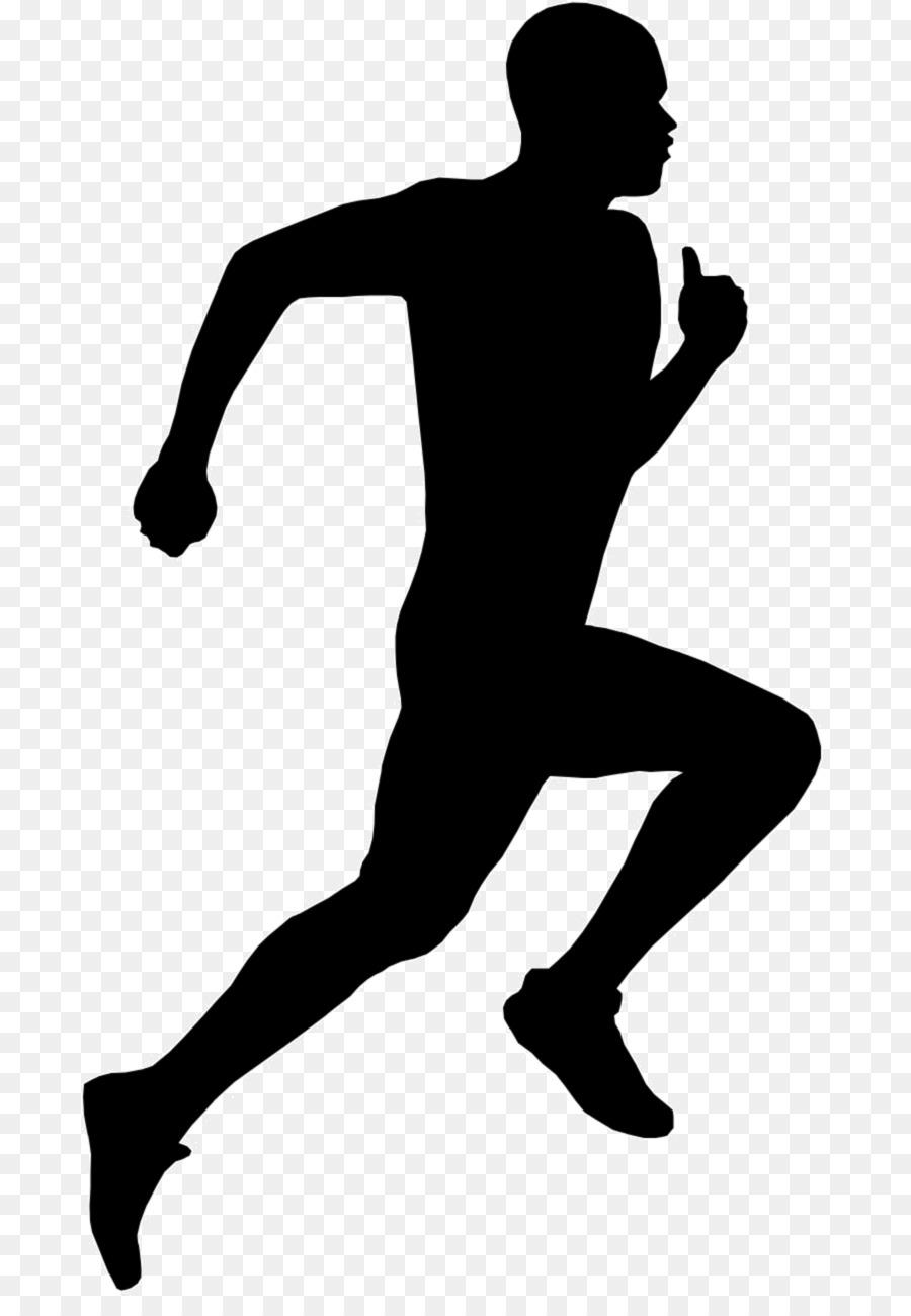 Silhouette of runner clipart jpg Man Cartoon clipart - Silhouette, Running, Drawing ... jpg