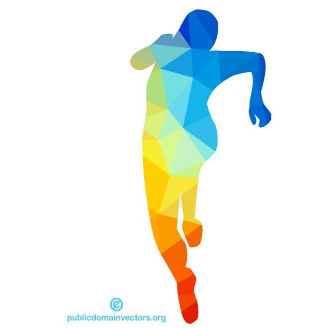 Silhouette of runner clipart clip art transparent download COLORED SILHOUETTE OF A RUNNER - Free vector image in AI and ... clip art transparent download